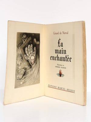 La main enchantée, Gérard de Nerval. Illustrations de Emmanuel Blanche. Éditions Marcel Besson, 1943. Frontispice et page-titre.