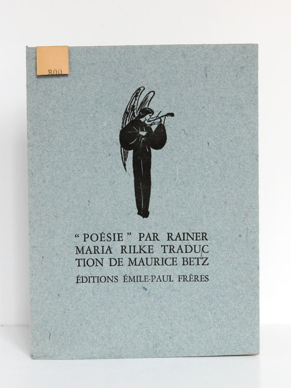 Poésie, Rainer Maria RILKE. Éditions Émile-Paul Frères, 1943. Couverture.