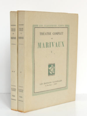 Théâtre complet de Marivaux. Les Éditions Nationales, 1946-1947. 2 volumes.