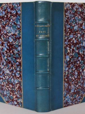 Paul et Virginie. Livre ancien 1887.