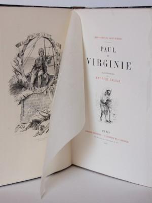 Paul et Virginie. Frontispice. Livre ancien 1887.