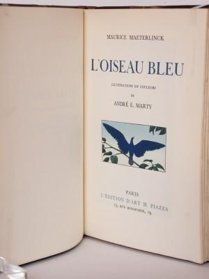 L'Oiseau bleu. Page titre. Livre ancien. 1945.