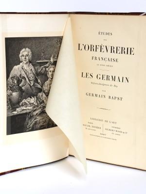 Les Germain, orfèvres-sculpteurs du Roy. G. Bapst. 1887. Page titre.