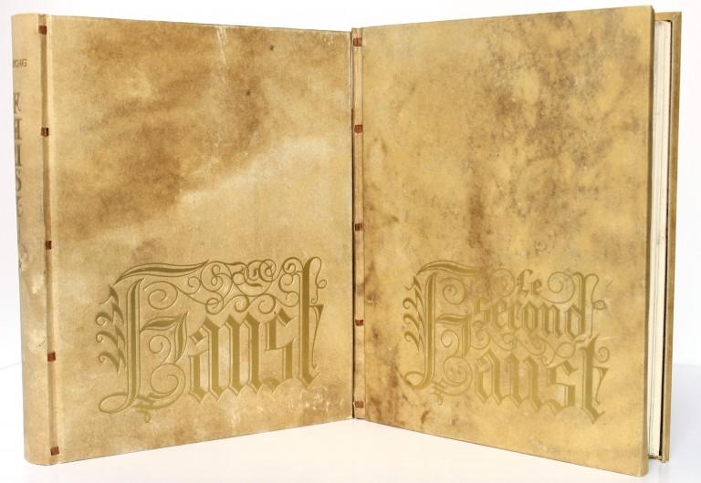 Faust. Goethe. Illustré par Edy Legrand 1942. 2 volumes. Reliures.