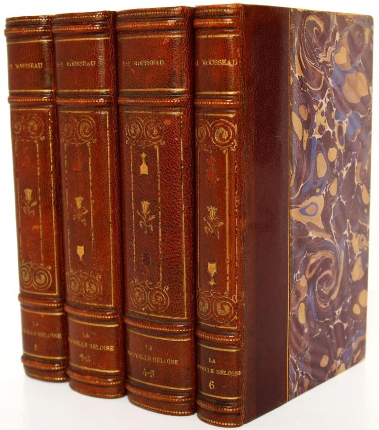 La Nouvelle Héloïse Jean-Jacques Rousseau. Jouaust 1889. Livre relié, 4 volumes.