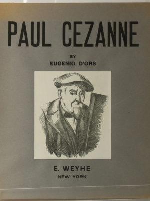 Paul Cézanne. Eugenio d'Ors. E. Weyhe. 1936. Couverture.