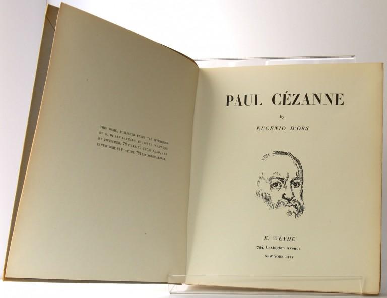 Paul Cézanne. Eugenio d'Ors. E. Weyhe. 1936. Page-titre.