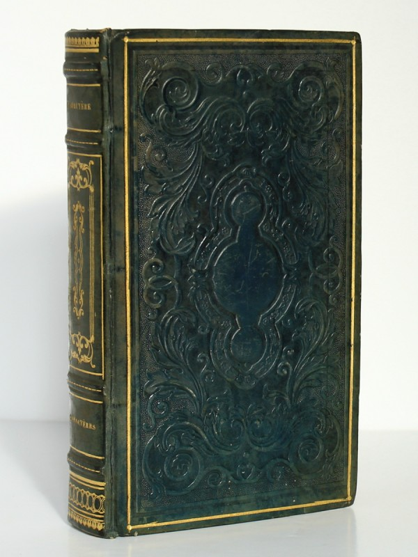Les Caractères. La Bruyère. Rusand 1824. Plat supérieur.