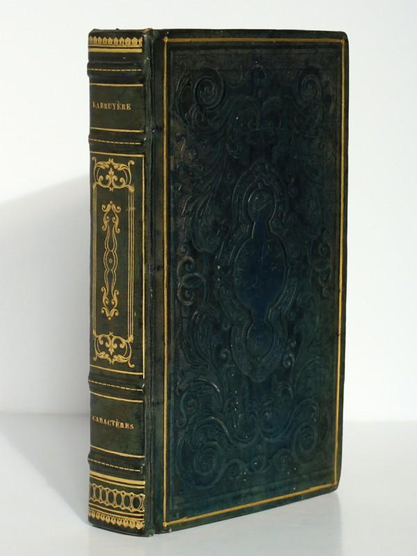 Les Caractères. La Bruyère. Rusand 1824. Reliure et dos.