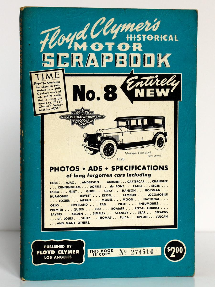 Floyd Clymer's Historical Motor Scrapebook n°8. 1955. Couverture.