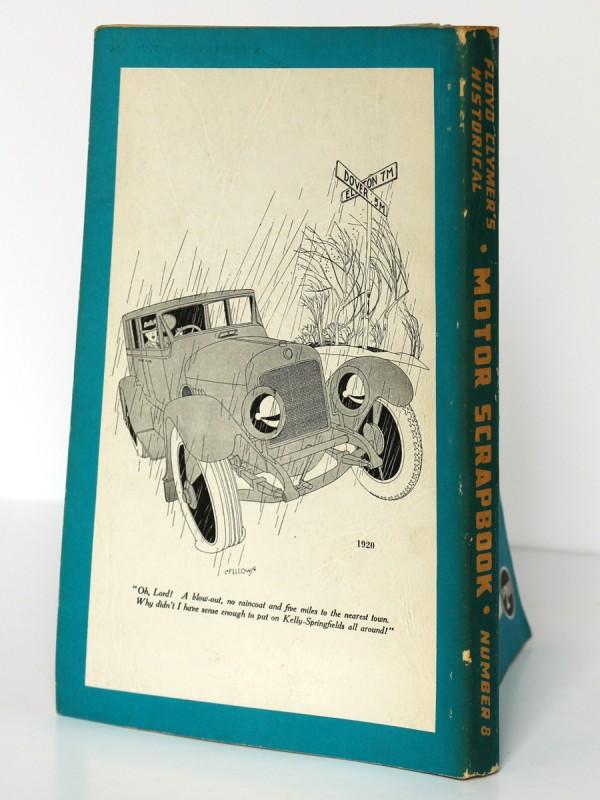 Floyd Clymer's Historical Motor Scrapebook n°8. 1955. Dos et quatrième de couverture.