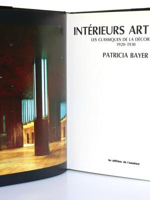 Intérieurs Art Déco. Patricia Bayer. Les éditions de l'amateur 1990. Page titre.