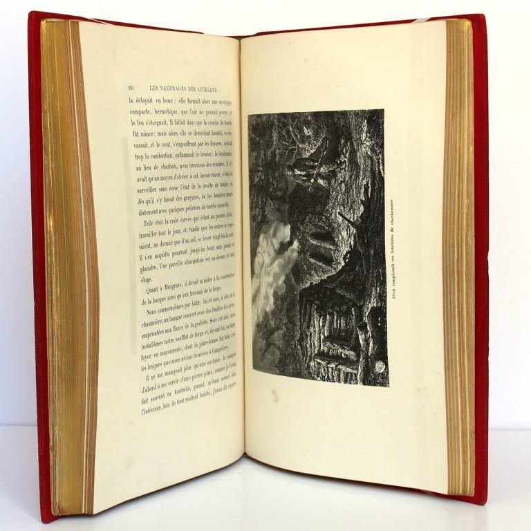Les Naufragés ou Vingt mois sur un récif des îles Auckland. Hachette 1882. Pages intérieures_2.