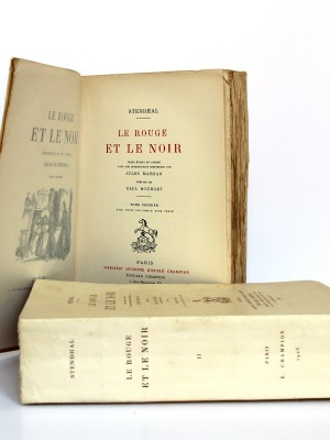 Le Rouge et le noir. Stendhal. Librairie ancienne Honoré Champion 1923. Page titre volume 1.