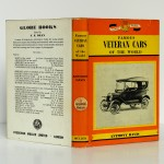 Famous Veteran Cars of the Worl. Anthony Davis. Frederick Muller, 1963. Dos et couvertures.