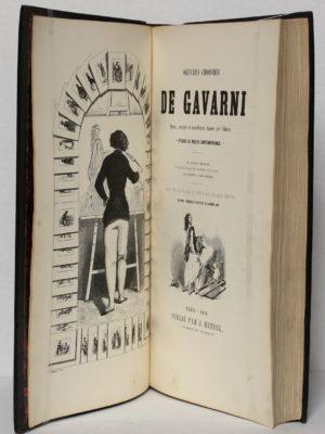 Œuvres choisies de Gavarni. Hetzel 1846. Page titre.