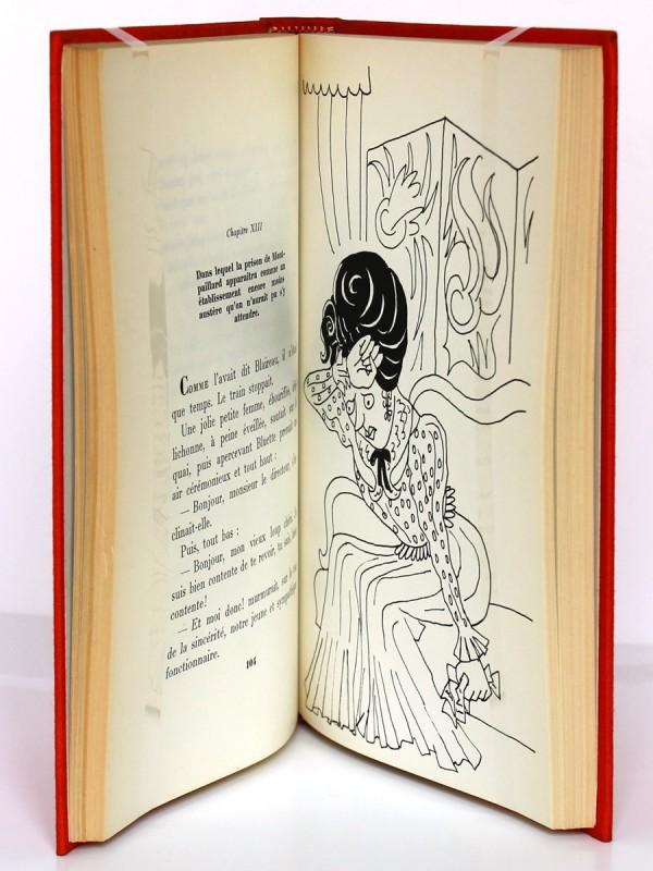 L'Affaire Blaireau, Alphonse Allais. Illustrations Maurice Henry. Le Livre Club des libraires. Pages intérieures.