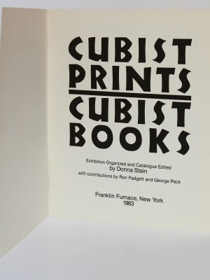 Cubist Prints / Cubist Books. Edited by Donna STEIN. Franklin Furnace 1983. Page titre.