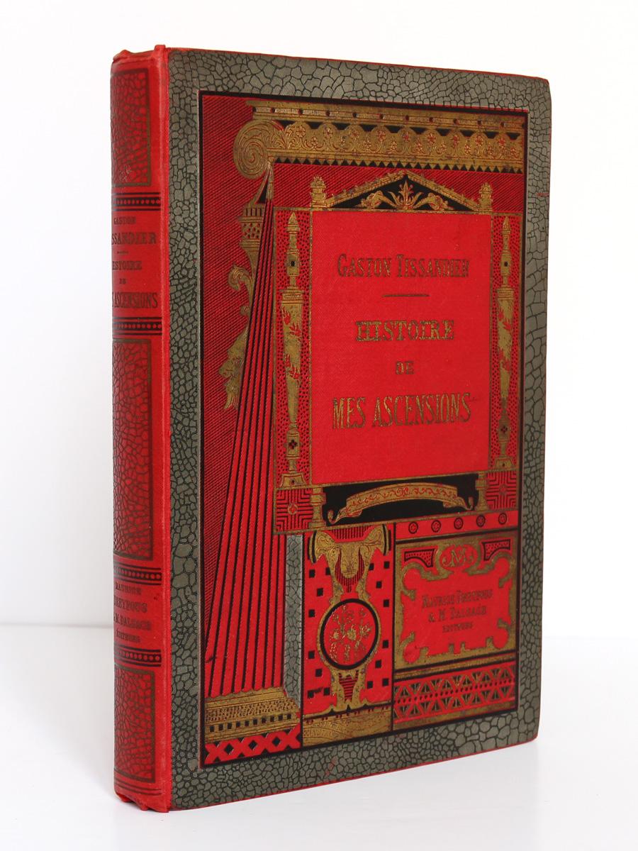 Histoire de mes ascensions. Gaston Tissandier. Maurice Dreyfous 1888. Premier plat et dos.