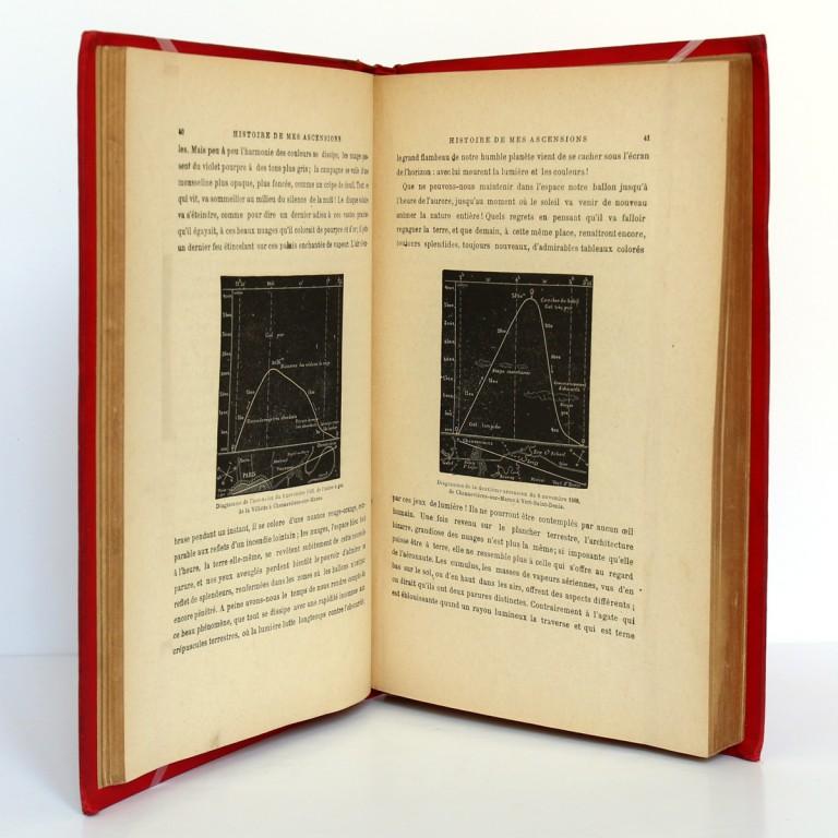 Histoire de mes ascensions. Gaston Tissandier. Maurice Dreyfous 1888. Pages intérieures 1.