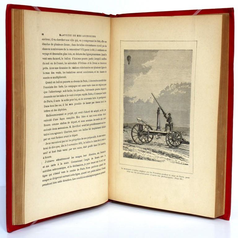 Histoire de mes ascensions. Gaston Tissandier. Maurice Dreyfous 1888. Pages intérieures 2.