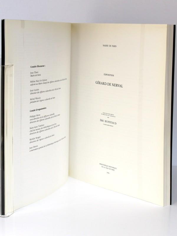Gérard de Nerval Exposition Mairie de Paris 1996. Éric Buffetaud. BHVP 1996. Pages titres.