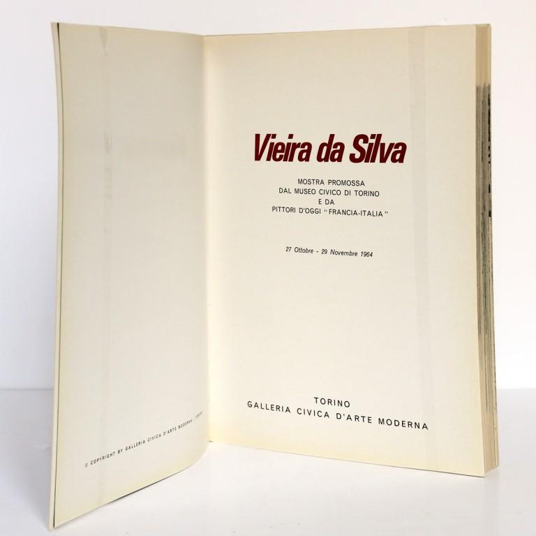 Vieira da Silva. Exposition Museo civico di Turino 1964. Page titre.