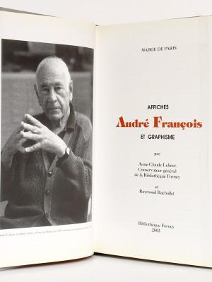 André François Affiches et Graphisme, Raymond BACHOLLET et Anne-Claude LELIEUR. Bibliothèque Forney 2003. Frontispice et page titre.