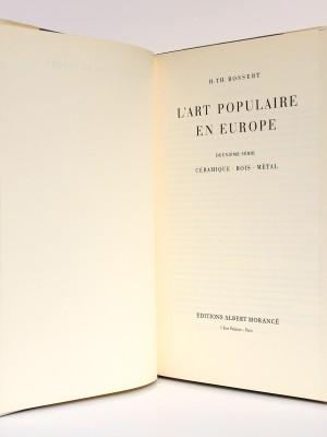 L'Art populaire en Europe Céramique Bois Métal, H. Th. Bossert. Éditions Albert Morancé, sans date. Page titre.