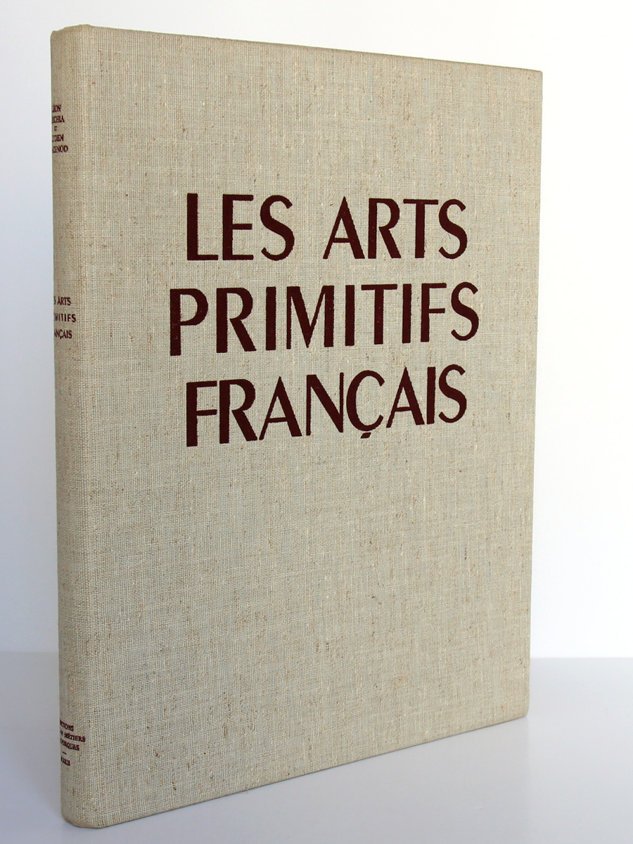Les Arts Primitifs français, L. Gischia, L. Mazenod, J. Verrier. Arts et Métiers graphiques 1953. Reliure.