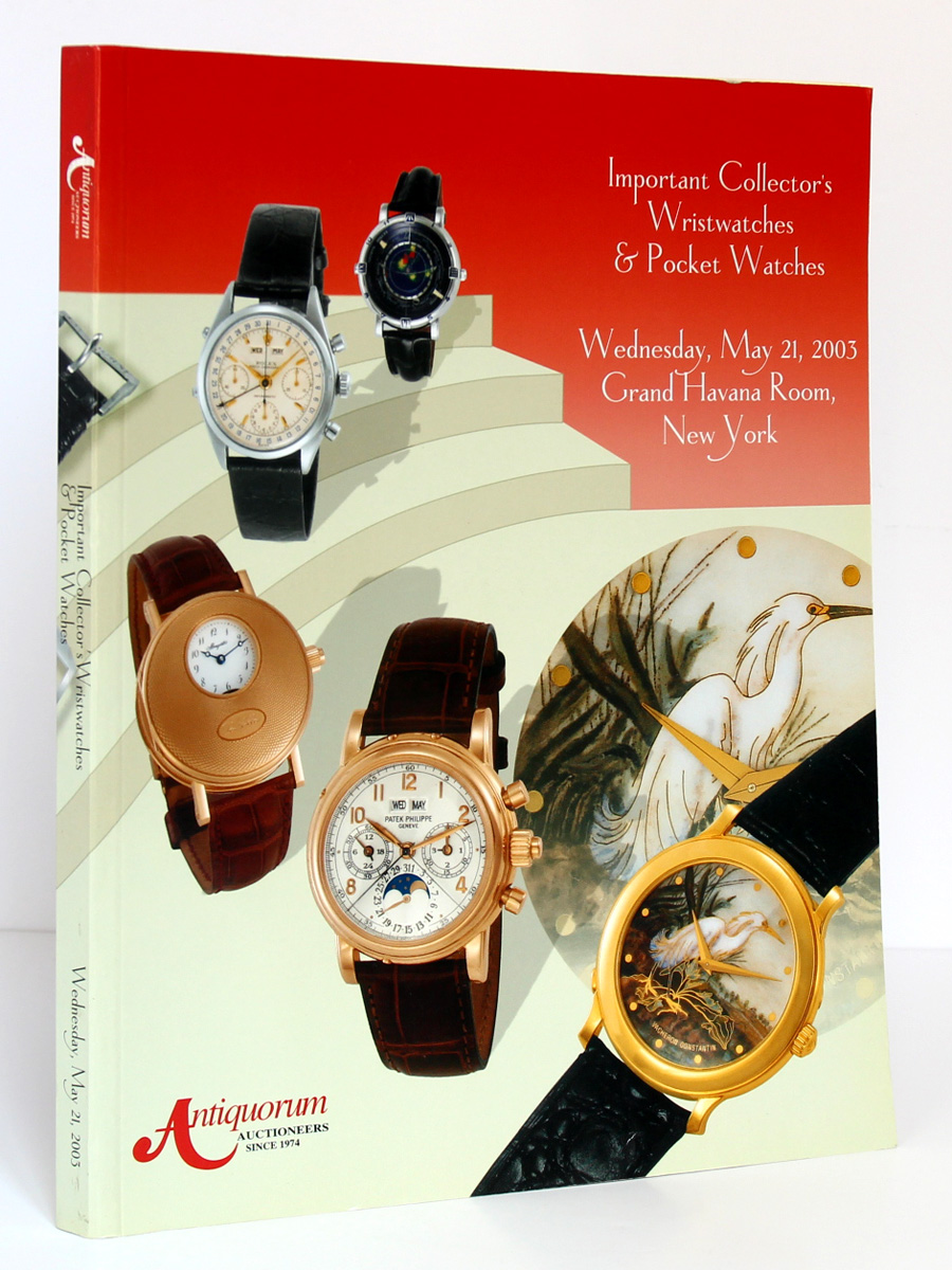 Important Collector's Wristwatches & Pocket Watches. Wednesday, May 21, 2003 Grand Havana Room New York. Couverture.