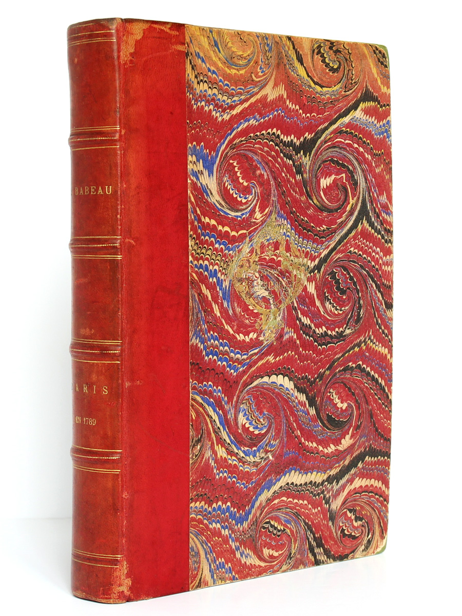 Paris en 1789, Albert Babeau. Firmin-Didot, 1893. Couverture.
