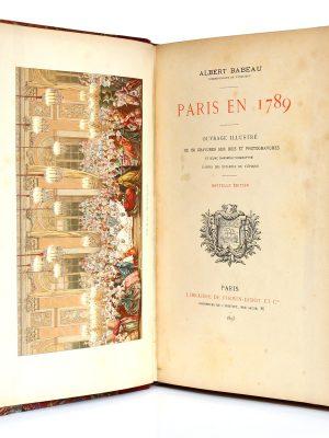 Paris en 1789, Albert Babeau. Firmin-Didot, 1893. Frontispice et page titre.