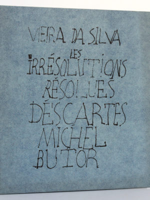 Vieira da Silva : les Irrésolutions résolues. Descartes. Michel Butor. Éditions Jeanne Bucher 1969. Couverture.