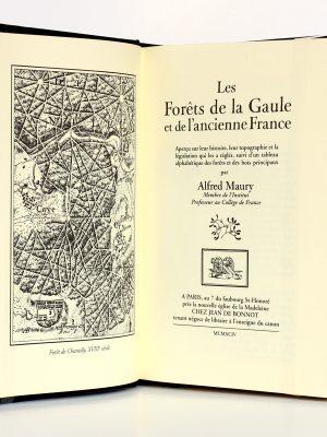 Les forêts de la Gaule et de l'ancienne France. Alfred Maury. Jean de Bonnot 1994. Frontispice et page titre.