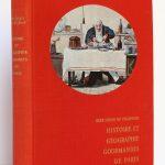 Histoire et géographie gourmandes de Paris. René Héron de Villefosse. Éditions de Paris 1956. Couverture.