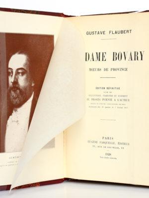 Madame Bovary. Gustave Flaubert. Eugène Fasquelle Éditeur 1928. Frontispice et page titre.