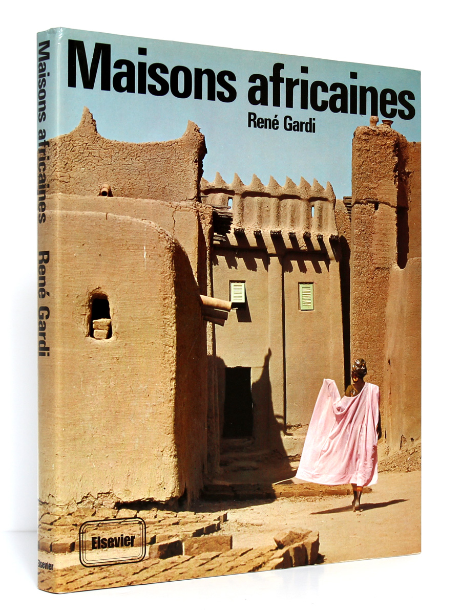 Maisons africaines René GARDI. Elsevier Sequoia 1974. Couverture.