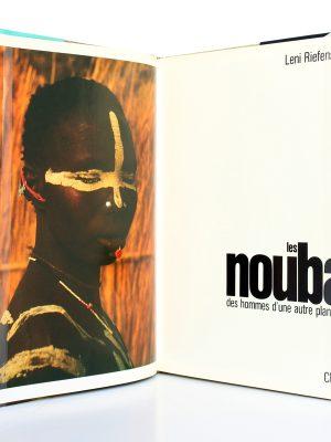 Les Nouba Leni RIEFENSTAHL. Chêne 1973-1976. Frontispice et page titre.