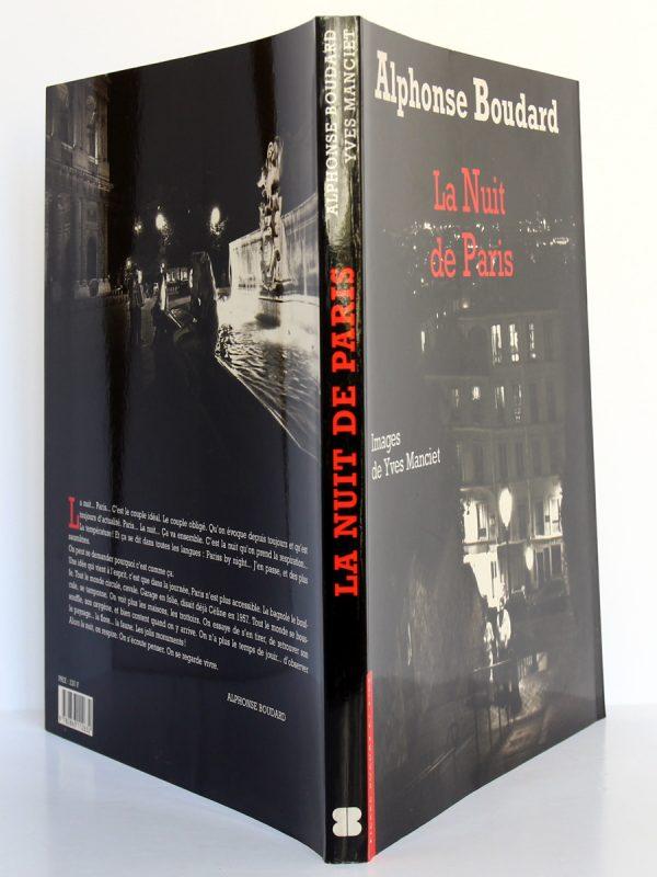 La Nuit de Paris, Alphonse Boudard. Photographies Yves Manciet. Éditions Pierre Bordas & Fils, 1994. Couverture : plats et dos.