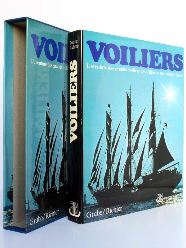 L'aventure des grands voiliers des Clippers aux navires écoles. Frank GRUBE, Gerhard RICHTER. Éditions Maritimes & d'Outre-Mer, 1977. Couverture et étui.