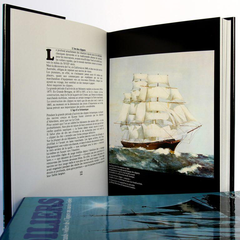 L'aventure des grands voiliers des Clippers aux navires écoles. Frank GRUBE, Gerhard RICHTER. Éditions Maritimes & d'Outre-Mer, 1977. Pages intérieures 1.