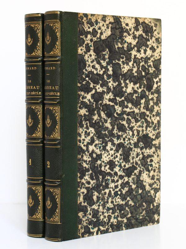 Le barreau au XIXe siècle, M.O. Pinard. Pagnerre Libraire-Éditeur, 1864-1865. 2 volumes. Reliures.
