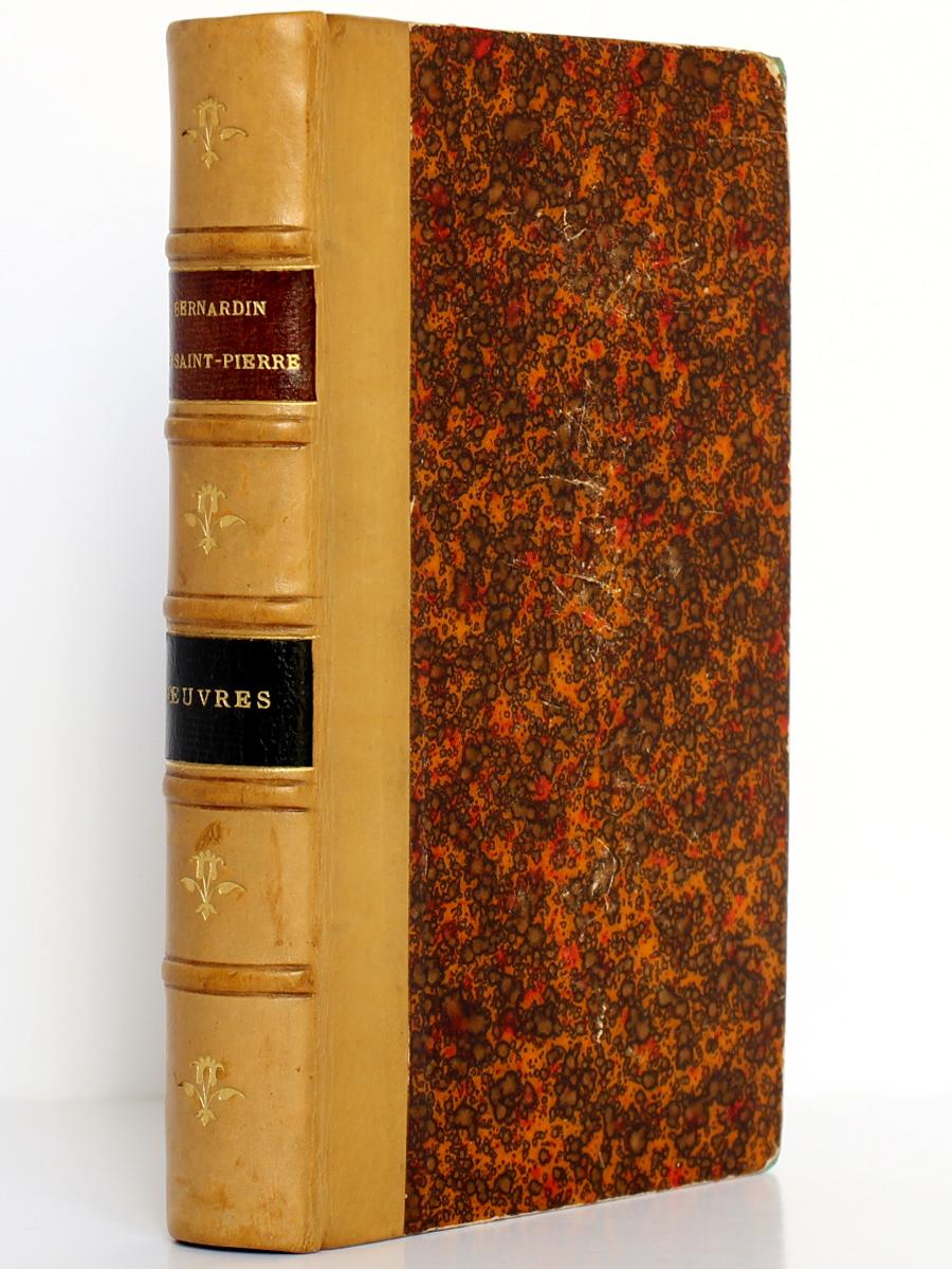 Œuvres choisies, Bernardin de Saint-Pierre. Firmin-Didot, 1886. Reliure.