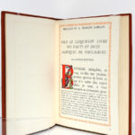 Le Cinquiesme Livre, Rabelais. Illustrations de Jean Gradassi. Éditions Le Chant des Sphères, 1966. Pages intérieures 2.