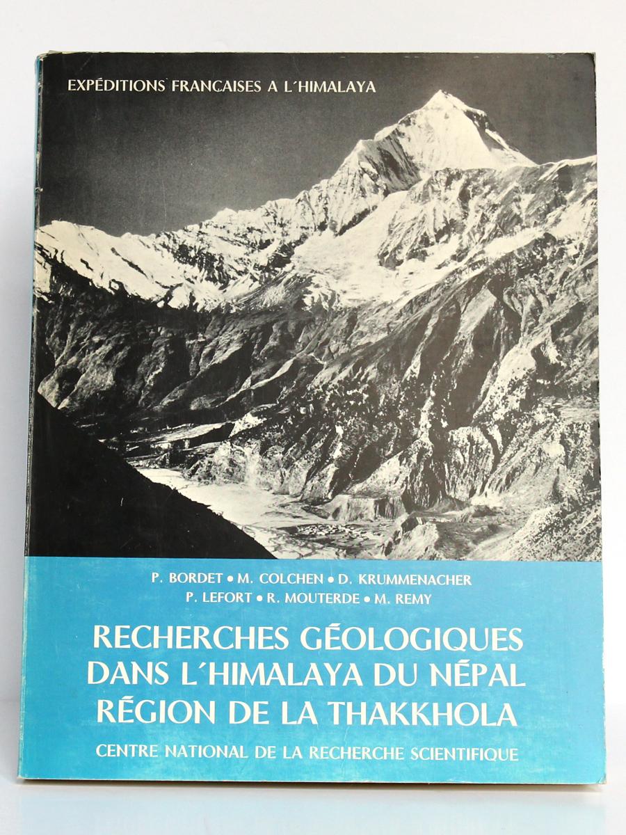 Recherches géologiques dans l'Himalaya du Népal, Région de la Thakkhola. CNRS, 1971. Couverture.