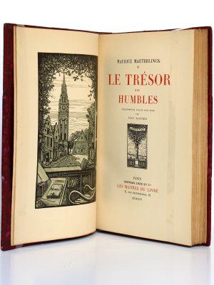 Le Trésor des humbles, Maurice Maeterlinck. Éditions Crès, 1921. Frontispice et page titre.