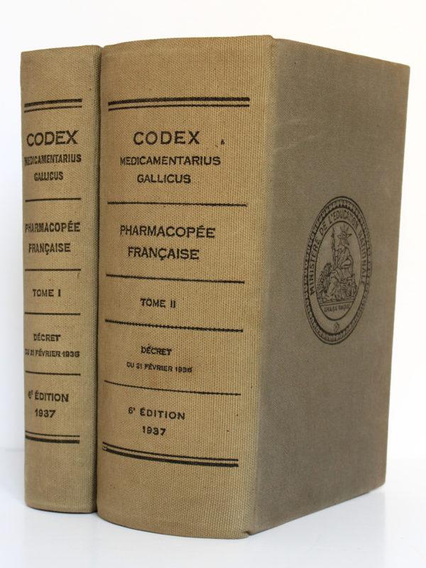 Codex 1937. Imprimeries Oberthur. 2 volumes. Reliures.