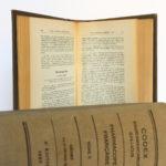 Codex 1937. Imprimeries Oberthur. 2 volumes. Pages intérieures 2.