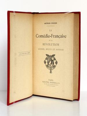 La Comédie-française et la Révolution, Arthur Pougin. Gaultier, Magnier & Cie. Page titre.